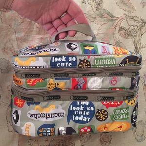 LeSPORTSAC Travel Dual Zip Cartoon Logo padded